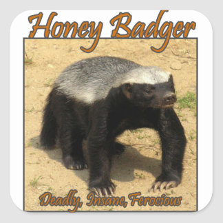 Deadly, Insane, Ferocious Honey Badger Sticker