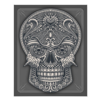Deadly Love Skull Poster