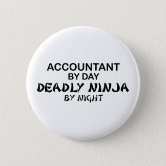 Deadly Ninja by Night - Accountant 6 Cm Round Badge