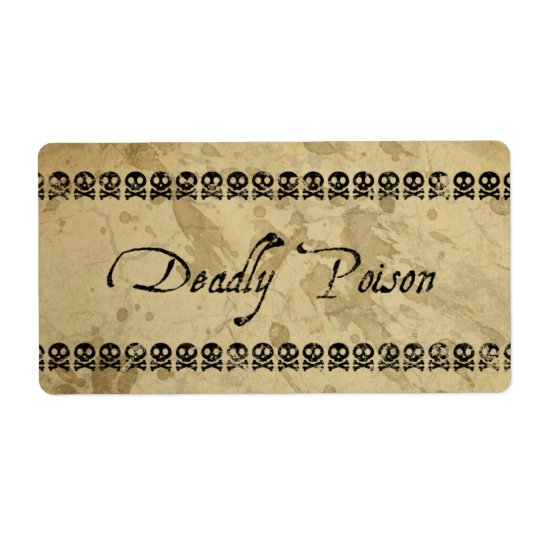 Deadly Poison Labels (large)