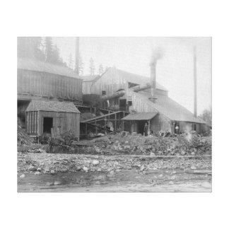 Deadwood and Delaware Smelter Photograph Canvas Print
