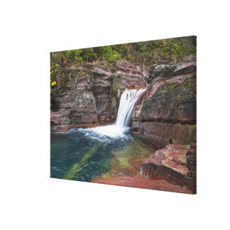 Deadwood Falls on Reynolds Creek in autumn in Stretched Canvas Prints