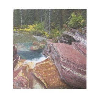 Deadwood Falls on Reynolds Creek in autumn in Notepads