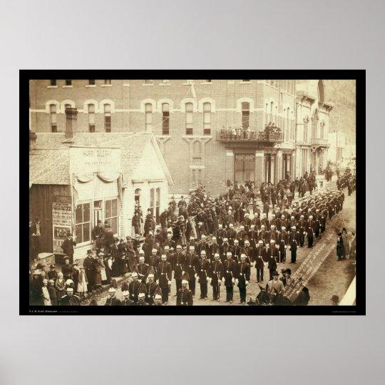Deadwood Grand Lodge IOOF Street  Parade SD 1890 Poster