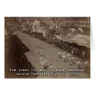 Deadwood Hub and Hub Race 1888 Greeting Card