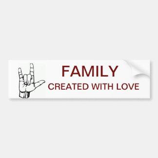 Deaf/Auslan Family Made with Pride Sticker Bumper Sticker