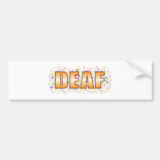 Deaf Bubble Tag Bumper Sticker