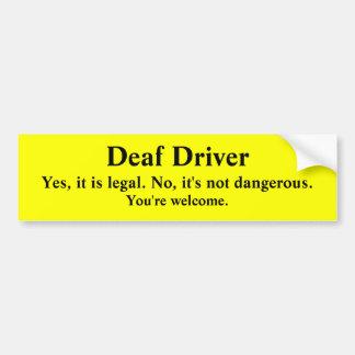 Deaf Driving Legal and Safe Bumper Sticker