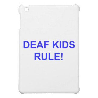 DEAF KID RULE iPad MINI COVERS