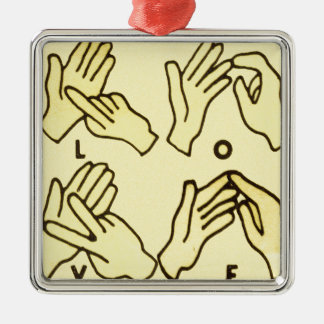 """""""Deaf Love"""" by Axel Bottenberg Christmas Ornament"""