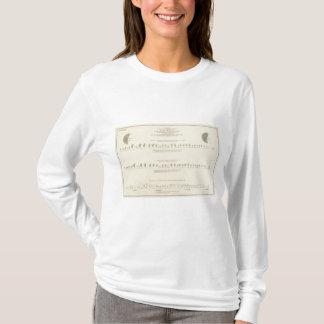 Deaf Mutes, Statistical US Lithograph 1870 T-Shirt