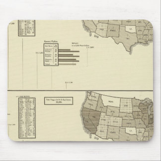 Deaf, Paupers, Prisoners statistical map Mouse Pad