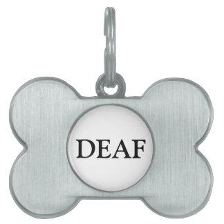 Deaf Pet Tag - Black