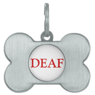 Deaf Pet Tag - Red