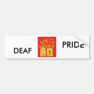 Deaf Pride Bumper Sticker