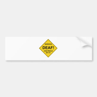 Deaf Proud Bumper Sticker