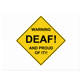 Deaf Proud Postcard