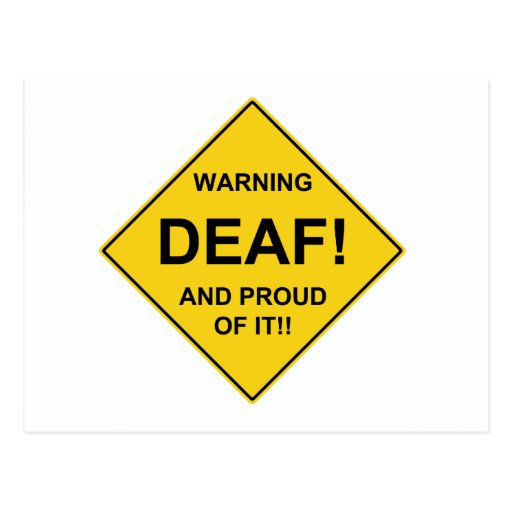 Deaf Proud Post Cards