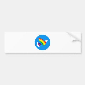 Deaf rainbow dove rainbow bumper sticker