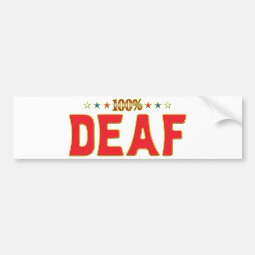 Deaf Star Tag Bumper Sticker