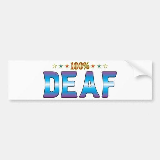 Deaf Star Tag v2 Bumper Stickers
