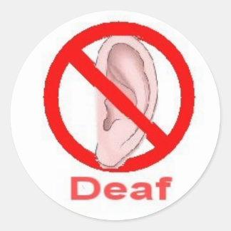 deaf sticker