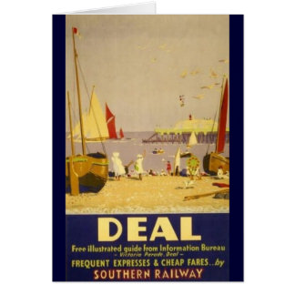 Deal Kent Southern Railways Vintage Hiking Duck Card