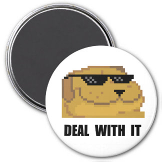 Deal With It 7.5 Cm Round Magnet