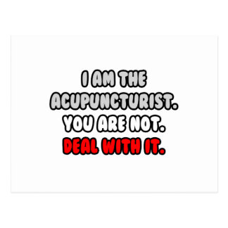 Deal With It ... Funny Acupuncturist Postcard