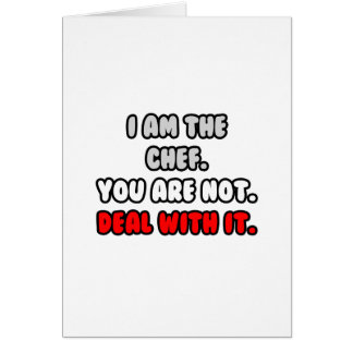 Deal With It ... Funny Chef Shirts and Gifts Greeting Card