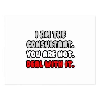 Deal With It ... Funny Consultant Postcard