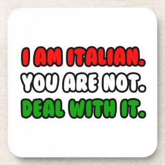 Deal With It Funny Italian Coasters