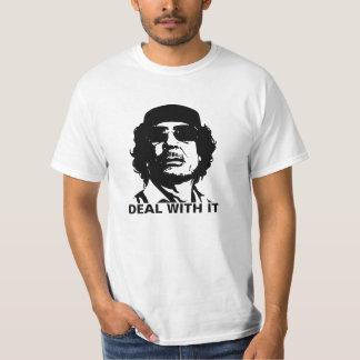Deal With It Muammar Gaddafi T-shirts