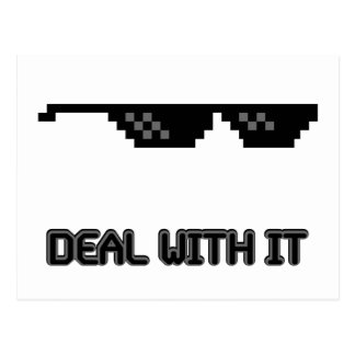 Deal With It Sunglasses Postcard