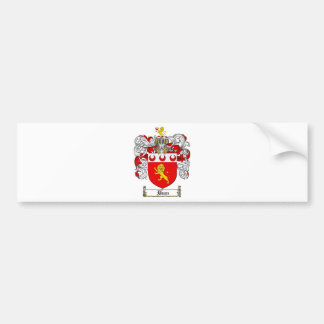 DEAN FAMILY CREST -  DEAN COAT OF ARMS BUMPER STICKER