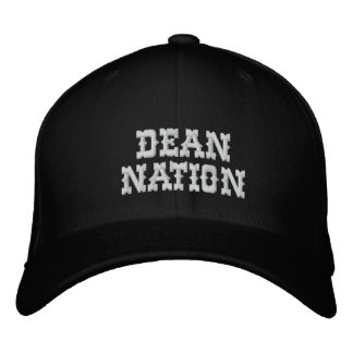 Dean Nation Personalized Fitted Cap Embroidered Hats