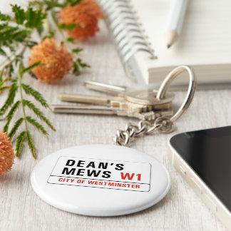 Dean's Mews, London Street Sign Keychain