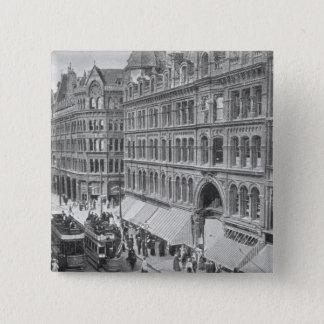 Deansgate, Manchester, c.1910 15 Cm Square Badge