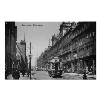 Deansgate, Manchester, c.1910 Poster