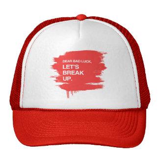 DEAR BAD LUCK, LET'S BREAK UP MESH HATS