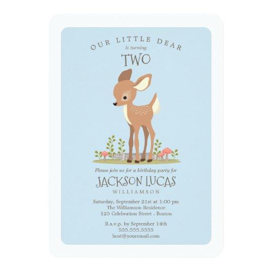 Dear Boy Little Deer Child's Birthday Party Card