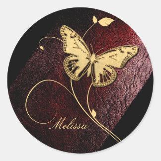 Dear Butterfly ID199 Round Sticker