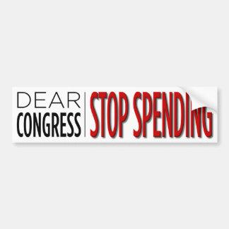 Dear Congress ... Bumper Sticker