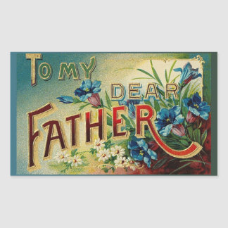 Dear Father Rectangular Sticker