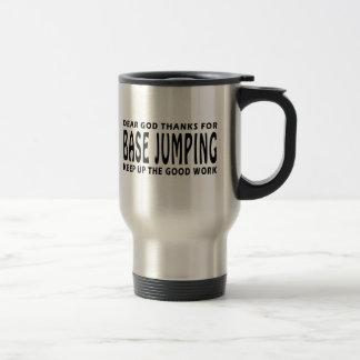 Dear God Thanks For Base Jumping Stainless Steel Travel Mug