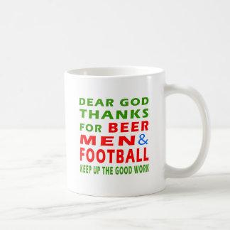 Dear God Thanks For Beer Men And Football Mugs