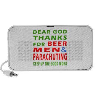 Dear God Thanks For Beer Men And Parachuting Travel Speakers