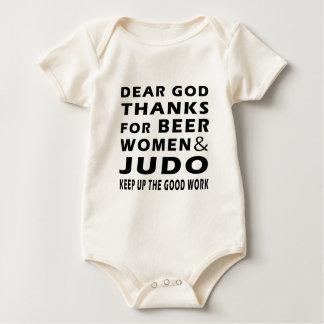 Dear God Thanks For Beer Women and Judo Baby Bodysuit