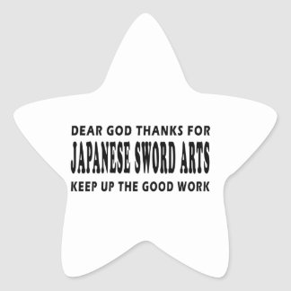 Dear God Thanks For Judo Keep Up Good Work Star Sticker