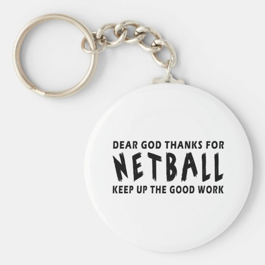 Dear God Thanks For Netball Basic Round Button